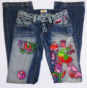 Antik Denim Western Embroidered Bootcut Jeans